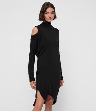 Womens Cecily Dress (Black) - product_image_alt_text_1