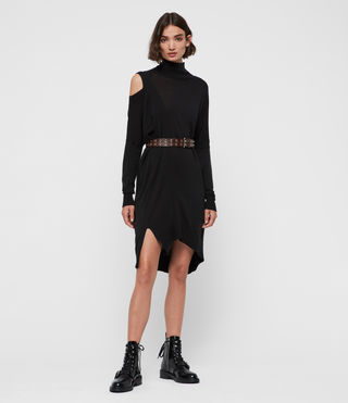 Womens Cecily Dress (Black) - product_image_alt_text_3