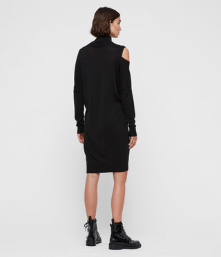 Womens Cecily Dress (Black) - product_image_alt_text_4