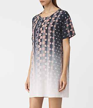 Womens Cora Polka Dress (Black) - product_image_alt_text_3