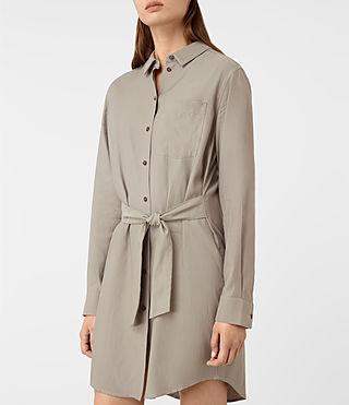 Womens Jules Shirt Dress (Chrome) - product_image_alt_text_2