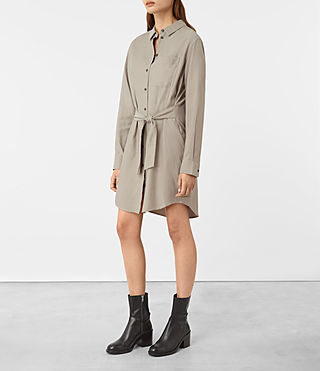 Womens Jules Shirt Dress (Chrome) - product_image_alt_text_3