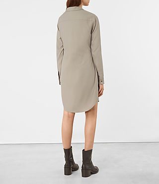 Womens Jules Shirt Dress (Chrome) - product_image_alt_text_4