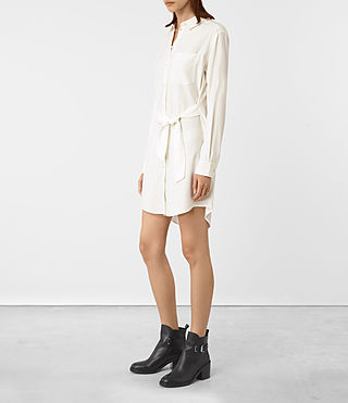 Women's Jules Shirt Dress (Chalk White) - product_image_alt_text_2