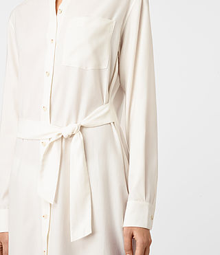 Women's Jules Shirt Dress (Chalk White) - product_image_alt_text_3