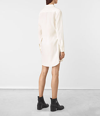 Women's Jules Shirt Dress (Chalk White) - product_image_alt_text_4