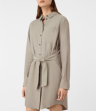 Mujer Jules Shirt Dress (Chrome Grey) - product_image_alt_text_2