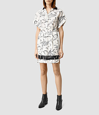 Womens Mario Willow Dress (Chalk White)