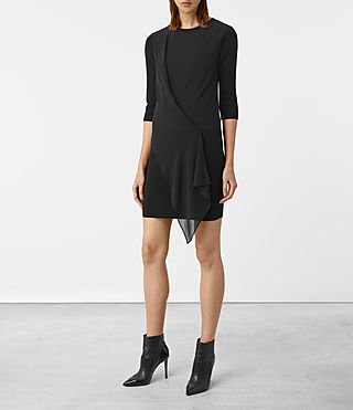 Womens Kafa Dress (Black) - product_image_alt_text_1