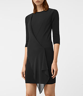 Womens Kafa Dress (Black) - product_image_alt_text_2