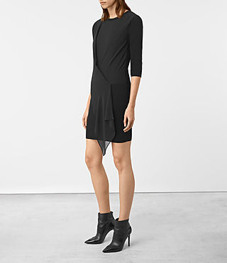 Womens Kafa Dress (Black) - product_image_alt_text_3