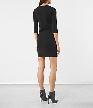 Womens Kafa Dress (Black) - product_image_alt_text_4