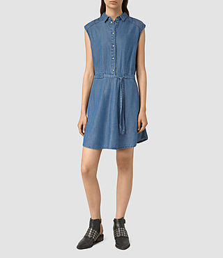 Donne Sanko Sleeveless Dress (LIGHT INDIGO BLUE) - product_image_alt_text_3