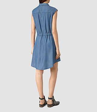 Donne Sanko Sleeveless Dress (LIGHT INDIGO BLUE) - product_image_alt_text_4