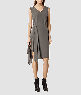 Donne Vista Dress (Slate Grey)