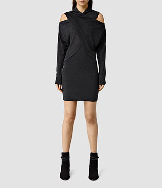Womens Kaddi Mini Dress (Cinder Black Marl)