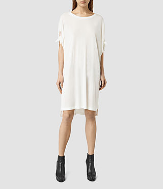 Womens Catkin Tee Dress (Chalk/White) - product_image_alt_text_2