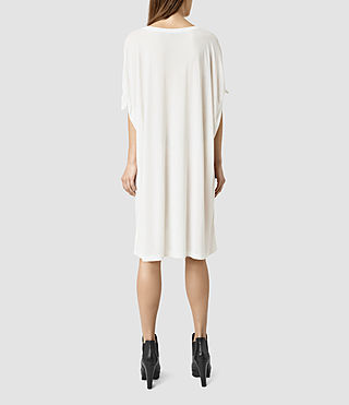 Mujer Catkin Tee Dress (Chalk/White) - product_image_alt_text_3
