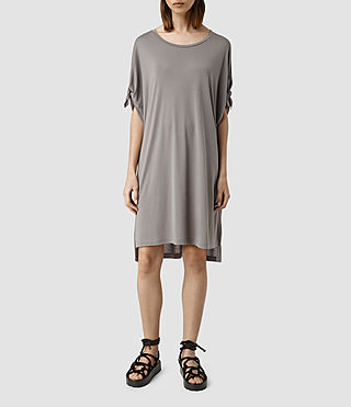 Womens Catkin Tee Dress (SHADOW GREY) - product_image_alt_text_1