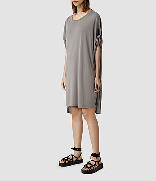 Mujer Vestido Catkin Tee (SHADOW GREY) - product_image_alt_text_2