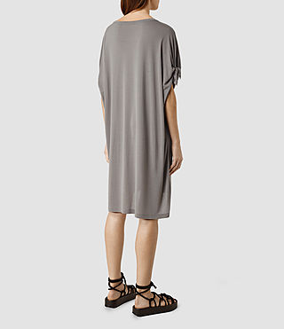 Womens Catkin Tee Dress (SHADOW GREY) - product_image_alt_text_3