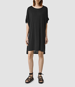 Damen Catkin Tee Dress (Black)