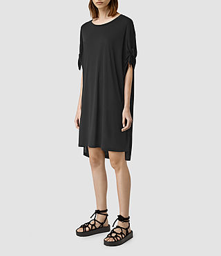 Damen Catkin Tee Dress (Black) - product_image_alt_text_2