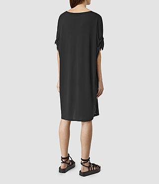 Damen Catkin Tee Dress (Black) - product_image_alt_text_3