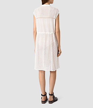 Mujer Elsa Waist Dress (Chalk White) - product_image_alt_text_4