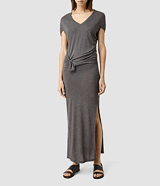Womens Dhara Mar Long Dress (Mid Grey Marl)