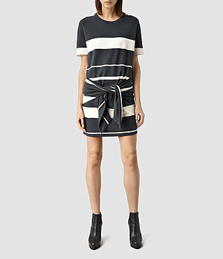 Womens Chan Stripe Dress (WSHD BLK/CHALK WHT)