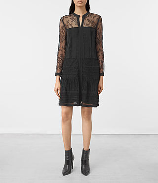 Damen Nia Jolene Sleeve Dress (Black)
