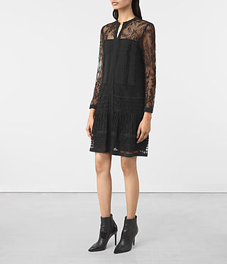 Womens Nia Jolene Sleeve Dress (Black) - product_image_alt_text_2