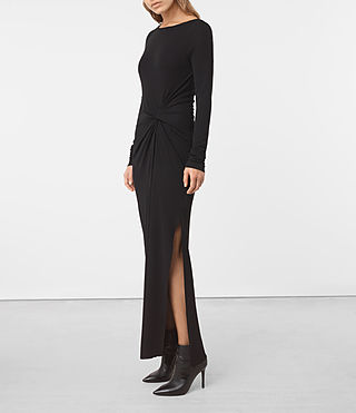 Womens Mon Dress (Black) - product_image_alt_text_1