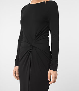 Mujer Mon Dress (Black) - product_image_alt_text_2