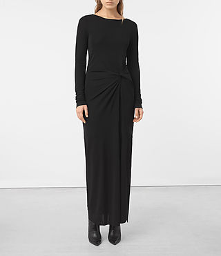 Damen Mon Dress (Black) - product_image_alt_text_3