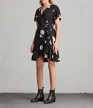 Womens Rene Rodin Silk Dress (Black) - Image 3