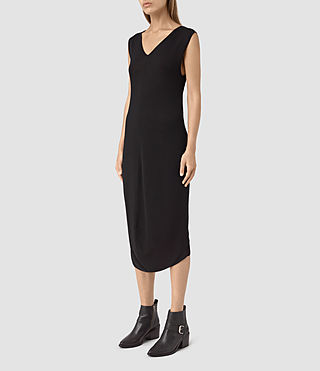 Donne Ero Maxi Dress (Black) - product_image_alt_text_3