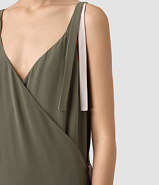 Donne Vea Dress (Light Khaki) - product_image_alt_text_2