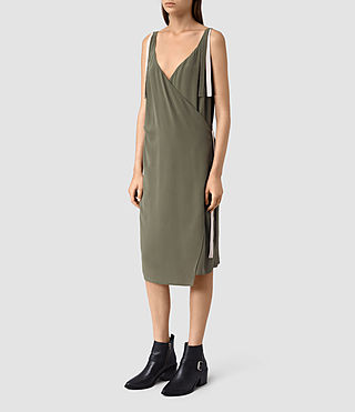 Donne Vea Dress (Light Khaki) - product_image_alt_text_3