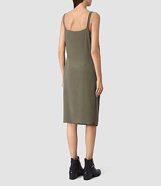Donne Vea Dress (Light Khaki) - product_image_alt_text_4