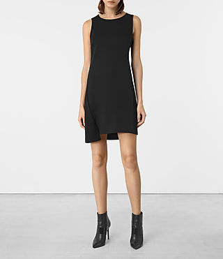 Womens Tara Dress (Black) - product_image_alt_text_1