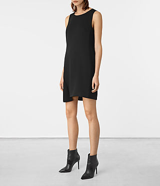 Women's Tara Dress (Black) - product_image_alt_text_4