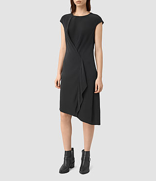 Damen Breeze Silk Dress (Black)