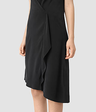 Womens Breeze Silk Dress (Black) - product_image_alt_text_2
