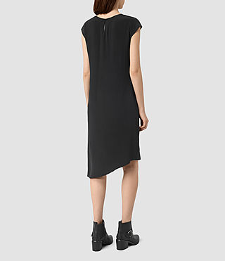 Womens Breeze Silk Dress (Black) - product_image_alt_text_4