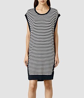 Womens Alna Striped Dress (Ink Mix)
