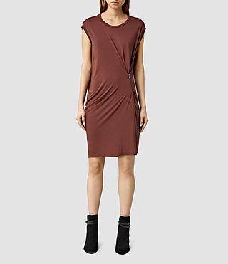 Women's Albi Dress (Rum Red)