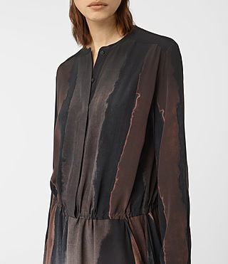 Womens Leevia Cosmos Silk Dress (Brown) - product_image_alt_text_2