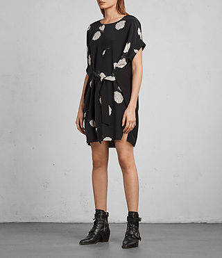 Womens Sonny Rodin Silk Dress (Black) - Image 3